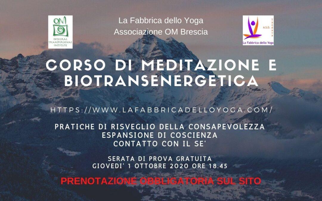 Corso di Meditazione e Biotransenergetica
